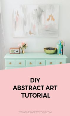 Need some artwork for your home? Something budget-friendly? Paint this gorgeous DIY abstract art canvas yourself! No special skills required - promise! Click through for the full tutorial.