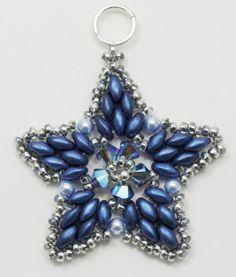 Deb Roberti's FREE Starlight Ornament Pattern #Seed #Bead #Tutorials