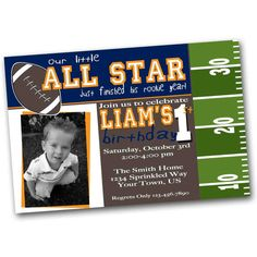 Hey, I found this really awesome Etsy listing at http://www.etsy.com/listing/80122198/football-birthday-invitation-football