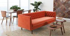 Chester Persimmon Orange Sofa - Sofas - Article | Modern, Mid-Century and Scandinavian Furniture