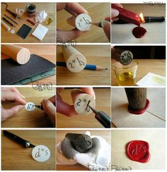 """""""How to make a traditional wax envelope seal"""" [from Pin Cookie - August 29 2012]'h4d'121229"""