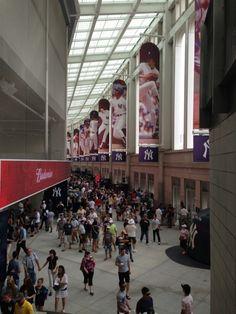 The modern concourse at the new $1,5 billion Yankee Stadium