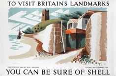 Rosemary & Clifford Ellis To Visit Britain's landmarks, Chantres Folly, Appledore, you can be sure of Shell Lithographic poster, 1937, printed in colours, on wove; faint creasing, otherwise in excellent condition, 760 x 1140mm (29 7/8 x 44 3/4in)(SH) unframed