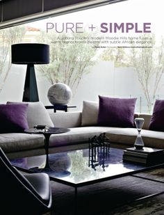 House and Leisure, 'Pure + Simple', Issue 226 June 2013 pg 01 - Charles van Breda Architects