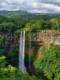 Chamarel Waterfalls in Rivière Noire District, Mauritius