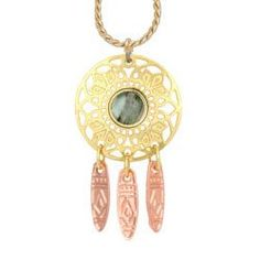 Dreamweaver with Abalone Cut-out Necklace