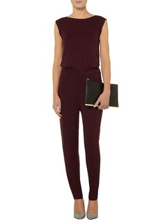 Mulberry jersey jumpsuit - View All Dresses - Dresses - Dorothy Perkins United States