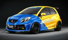 Honda Brio Spoon Sport by idhuy on DeviantArt Honda Jazz, Honda S, Honda Hatchback, Honda Brio, Civic Eg, Japan Cars, Jdm Cars, Fast Cars, Dream Cars