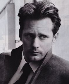 Alexander Skarsgard.....first knew him in 'True Blood'....interesting look, fun acting (at least as a vampire).