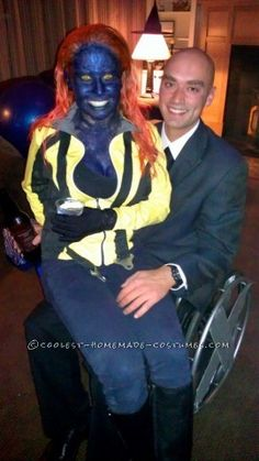 fantastic homemade couple costume xmenu0027s mystique and professor x
