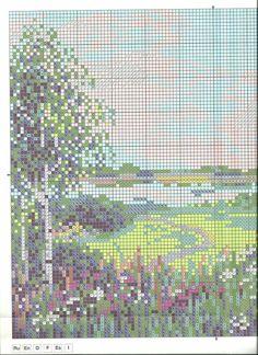Скачать схему вышивки Riolis 1604 «Тропинка к пруду»