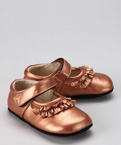 See Kai Run: Copper Mary Janes? Yes, please. #zulily