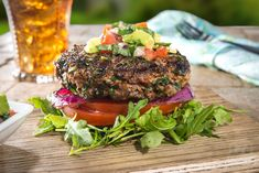 Fresh Herb Burger with Avocado Salsa