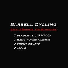 tag your training partner. It's not always about going to that pain cave to get better. Sometimes you need to train like an athlete and practice your skill. Being able to move the barbell efficiently is key when it comes to competing in #CrossFit. This is designed to practice efficient movement with elevated heart-rate. Scale of you aren't able to do at least a couple rounds unbroken (to avoid the pain cave early on, that's not the purpose of the workout) #rxmindset #wod #weightlifting