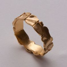 Parched Earth No6  14K Gold Ring unisex ring wedding by doronmerav, $400.00