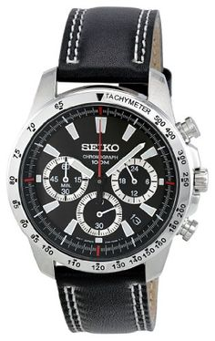 Seiko Men's SSB033 Chronograph Watch *** Read more reviews of the product by visiting the link on the image.