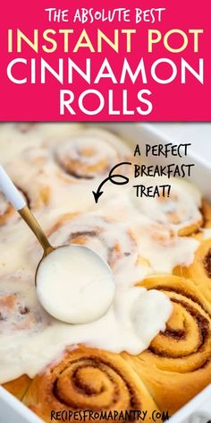 This Instant Pot Cinnamon Rolls recipe is SO quick and easy to make from scratch. It only takes 30 mins to proof the dou. Cinnamon Roll Monkey Bread, Cinnamon Roll Dough, Cinnamon Roll French Toast, Cinnamon Roll Casserole, Gooey Cinnamon Rolls Recipe, Cinnamon Rolls From Scratch, Paprika Sauce, Biscuits, Best Instant Pot Recipe