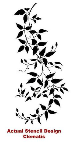 Wall stencils at great prices! Large collection of decorative stencils. Buy stencils online and get a free stencil plus stenciling tips from professional faux finishers. Elegant Clematis vine stencil for wall decor. Large Wall Stencil, Stencil Painting, Stenciling, Painting Walls, Tree Stencil, Large Stencils, Large Painting, Painting Tips, Diy Wand