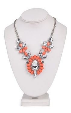 Deb Shops Short #Statement #Necklace with Stone Spike Design $9.03