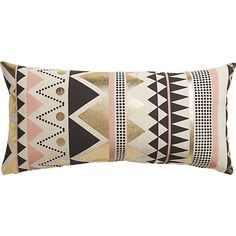 """janey 23""""x11"""" pillow with feather-down insert via CB2, $39.00"""
