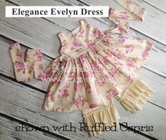 Girls Evelyn Dress Elegance Collection Twirl by BoutiqueElliEtte