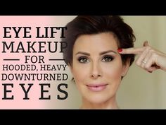 best=Eye Lift Makeup for Hooded Heavy or Downturned Eyes Dominique Sachse Prom Dresses Stores How To Makeup Eyebrows, Droopy Eye Makeup, Droopy Eyelids, Eye Makeup Tips, Smokey Eye Makeup, Downturned Eyes Makeup, Makeup Tricks, Makeup Tutorials, Makeup For Hooded Eyelids