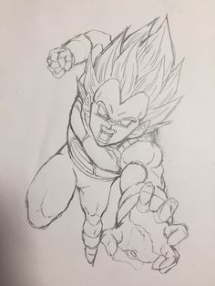 """""""The Prince charges!"""" Drawn by: Young Jijii. Found by: #SonGokuKakarot"""