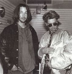 Iv never seen this photo of River & Keanu before!! The look awful yet I still find them attractive!! Yeah it's safe to say I love them! Lol