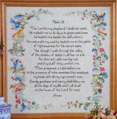 Marie Barber PSALMS 23 The Lord Is My by ThePamperedStitcher