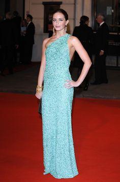 aqua Marc Bouwer dress at the 2008 BAFTA awards. - picture 3 of 9 - Celebrity Fashion / News