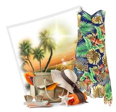 """""""Tropical"""" by cavell ❤ liked on Polyvore featuring Samya and Prada"""