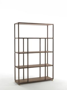 Open freestanding wooden bookcase BIBLO by Porada | design Tarcisio Colzani