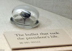 Piece of history: The bullet that killed President Abraham Lincoln on April 15, 1865, is among the items on display at the National Museum of Health and Medicine in Silver Spring