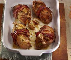 Skvělý recept na: Pečené křepelky ve slanině