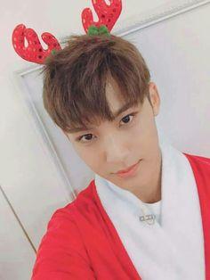 My precious giant baby Mingyu on Christmas Day 2016 Woozi, Jeonghan, Mingyu Seventeen, Seventeen Debut, Vernon, Rapper, The8, Hip Hop, Kim Min Gyu