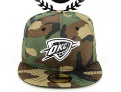 NEW ERA x NBA 「Oklahoma City Thunder Camo White Logo」59Fifty Fitted Baseball Cap