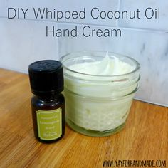 DIY Whipped Coconut Oil Hand Cream - easy beauty recipe using coconut oil from Yay for Handmade!