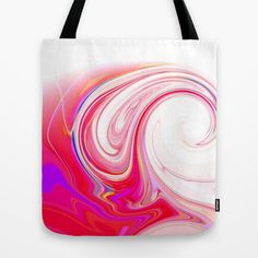 Re-Created  Tsunami SEVEN Tote Bag by Robert S. Lee - $22.00