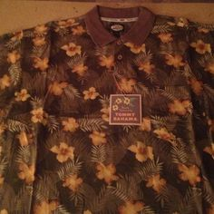Mens XL Tommy Bahama Polo Shirt Mens XL Tommy Bahama Polo Shirt. Short Sleeve, 3 Button Collar, Left Breast Pocket, 100% Cotton. New with tags original $75., paid $61 Tommy Bahama Tops Tees - Short Sleeve