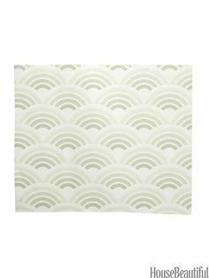 Waves Pattern Peel-and-Stick Wallpaper. housebeautiful.com. #wallpaper