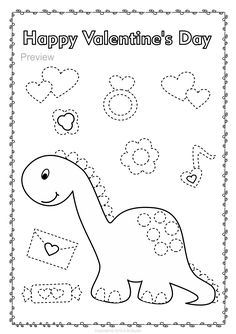 Help your child develop their pre-writing and fine motor skills with Valentine`s Day themed Trace and Color Pages. #tracing #prewriting #motorskills #tracingworksheets #prekindergarten #kindergarten #AMStudio