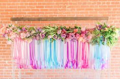 10 Watercolor Wedding Design in Phoenix Arizona at The Bentley Projects, Photos by Malone Sinclaire. #ribbonchandelier #tablescape #centerpieces