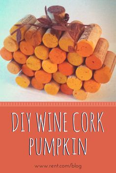 Create a DIY wine cork pumpkin in 20 minutes for less than $15! See photos and step-by-step instructions on The Shared Wall blog from Rent.com!