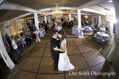 Newly weds' First Dance in Randolph's Ballroom @ Nottoway Plantation