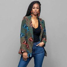african print dresses African, Print, Long, Blazer African Print Long Blazer Long Sleeve Turn-down Collar Clothes & Tops Collar Afri African Print Dresses, African Print Fashion, African Fashion Dresses, African Dress, Fashion Prints, African Prints, Africa Fashion, African Attire, African Wear