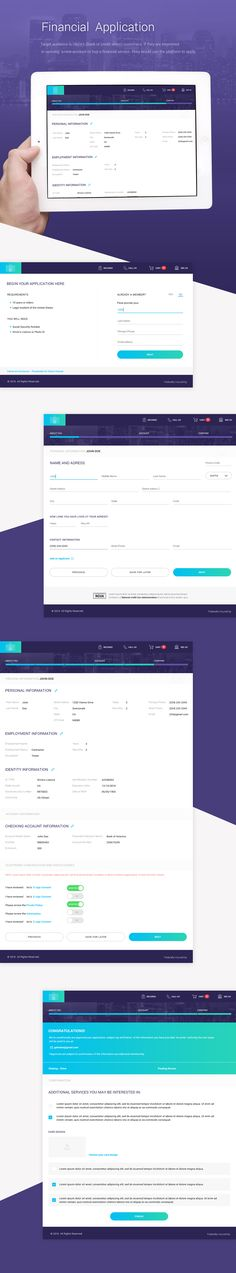 Financial Application on Behance