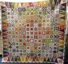 Dear Jane quilt by Sonia, posted by Karen Styles. Australian Quilters Association 2013 Dear Jane show.