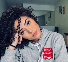 Hair style women and make up Archives - Gray Hair Style Curly Hair Styles, Natural Hair Styles, Hair Color Dark, Grunge Hair, Curly Girl, Big Hair, Aesthetic Girl, Hair Goals, Hair Care