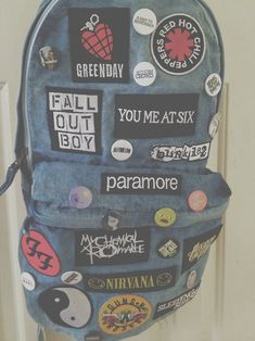 This is a cool idea. Get a button or patch from every concert you have been to and put them all on one backpack
