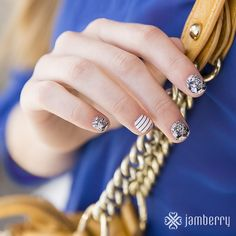 """NAIL IT magazine says this and I quote, """"It's a tragedy to let a single day of spring or summer go by without something cute and Pinterest-able on your nails, but seriously – who has the time for that? Try out Jamberry nail wraps."""""""
